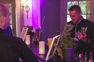 Hochzeitsparty und Cocktails