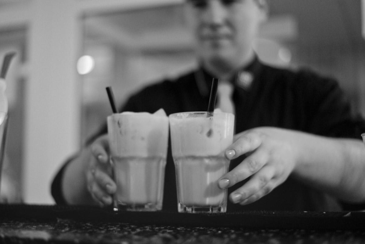 Cocktails in Firmenfarben