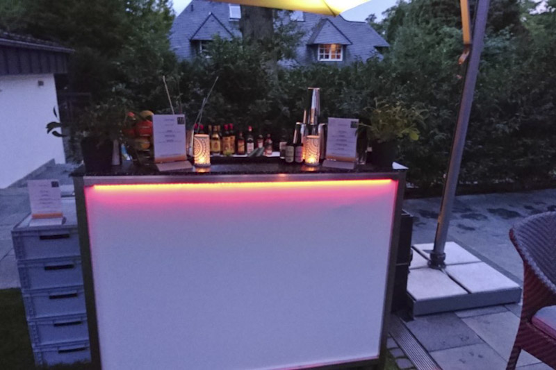 mobile Cocktailbar für private Parties